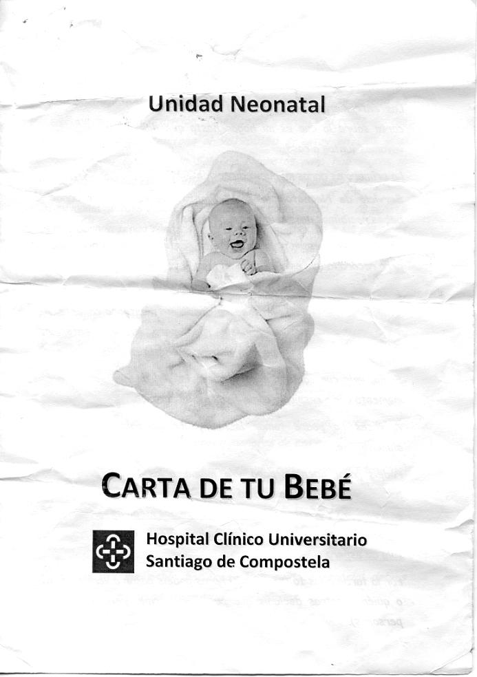 Carta de un bebé al servicio de Neonatología del Hospital Clínico ...