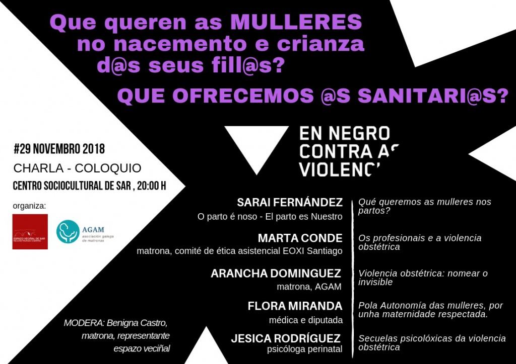 cartel charla coloquio en Santiago