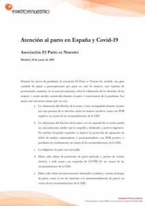 Recopilación y documentación de la atención al parto durante la pandemia 2020